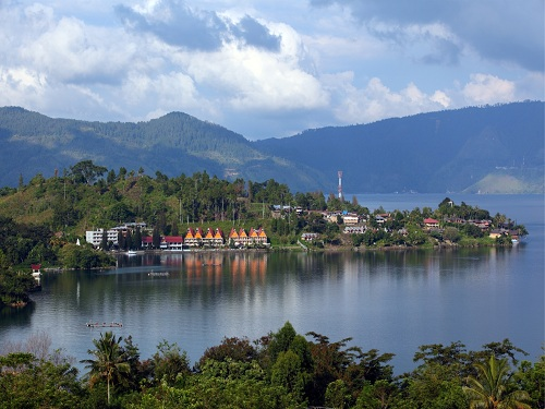 The Samosir Island on Lake Toba