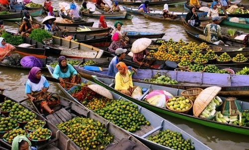 Floating Market (Barito River)
