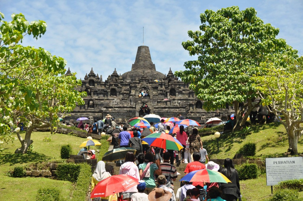 Borobudur at Eid Al-Fitr Day