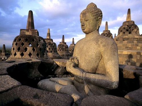 The Buddha Statue at Borobudur Temple