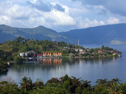 The Samosir Island on Lake Toba