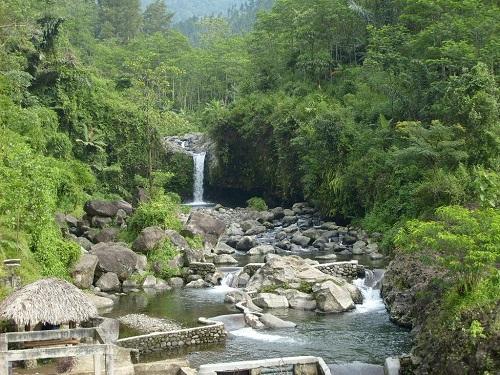 Baturaden hot water Swim in Purwokerto