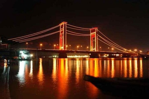 Jembatan Ampera (Ampera Bridge) At Night