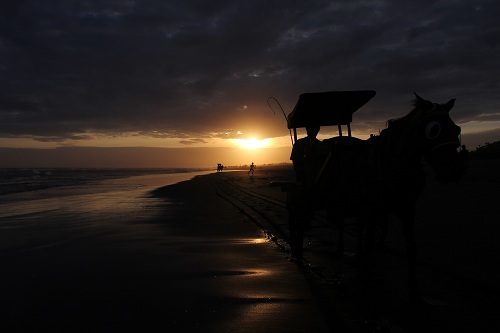 Sunset At Parang Tritis Beach