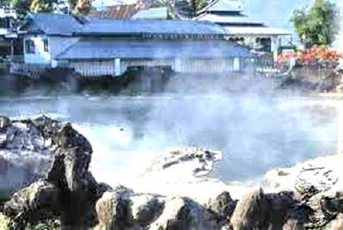 Gemuhak hot water swim in South Sumatra
